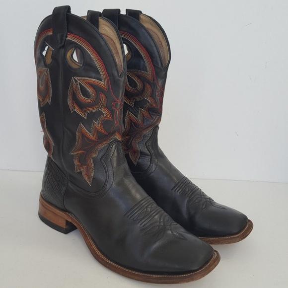 31428d40a5b Boulet Boots Buckaroo Square Toe Cowboy Western